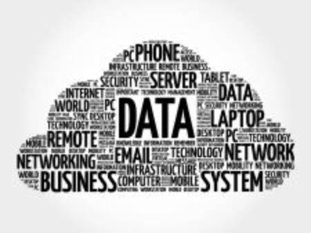 big size: Data word cloud, business concept Illustration