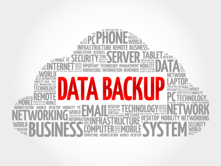 up code: Data Backup word cloud concept