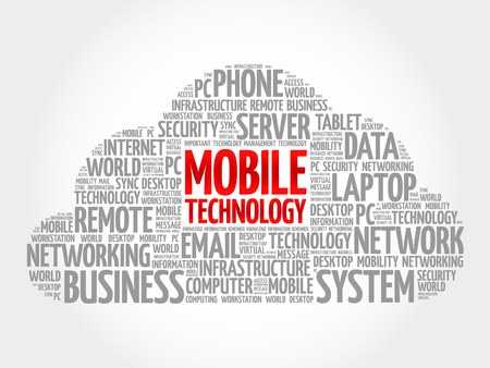 functionality: Mobile technology word cloud concept