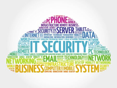 sec: IT Security word cloud concept