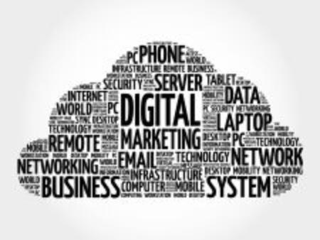 pr: Digital marketing word cloud concept