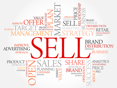 retailing: Sell word cloud, business concept