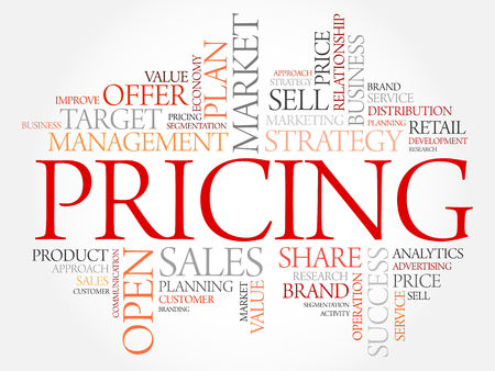 permanent: Pricing word cloud, business concept