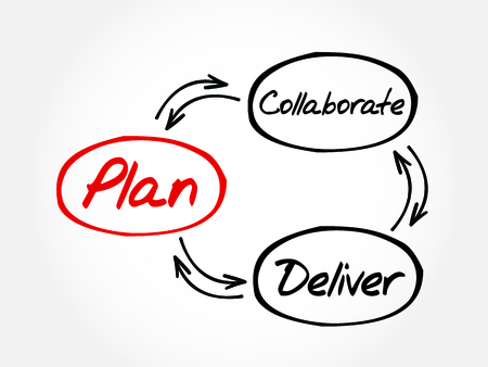 project plan: Hand drawn Project Plan diagram mind map, business concept