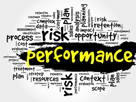 define: Performance word cloud, business concept