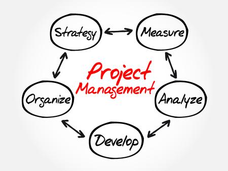 mapa de procesos: Gestión de Proyectos mapa de procesos de la mente, concepto de negocio