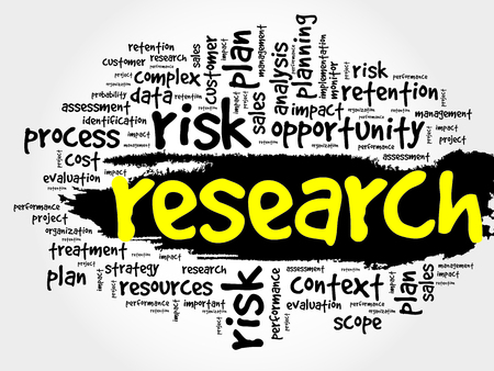 research: Research word cloud, business concept