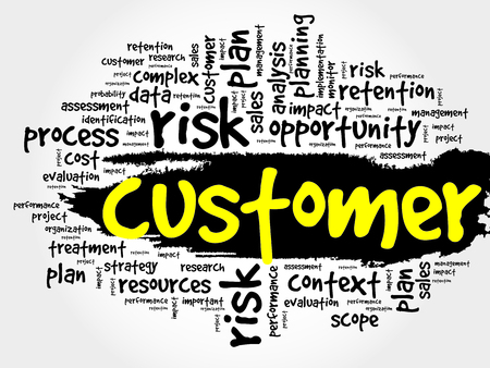 Customer word cloud, business concept