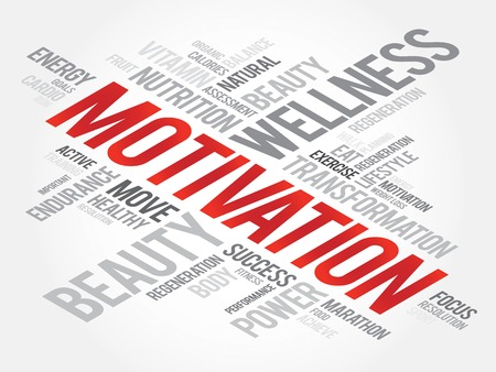 readiness: MOTIVATION word cloud, fitness, sport, health concept