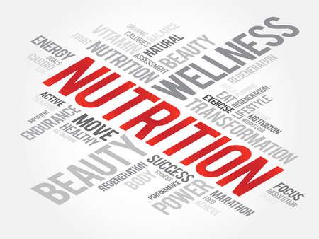 nutrition health: Nutrition word cloud, fitness, sport, health concept