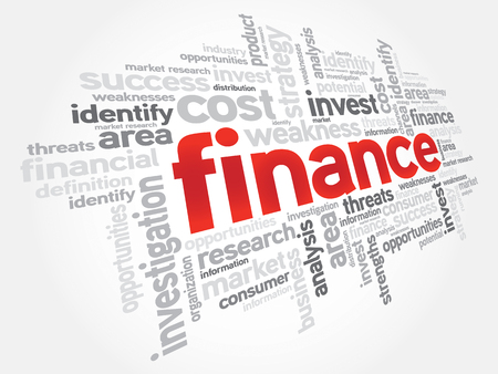 lending: FINANCE word cloud, business concept