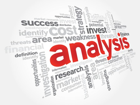 optimal: ANALYSIS word cloud, business concept