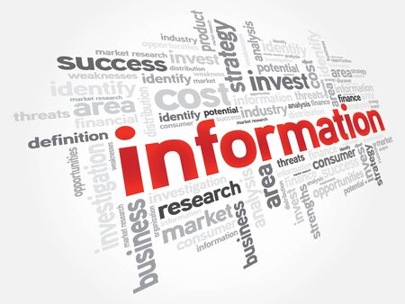 forewarning: INFORMATION word cloud, education concept