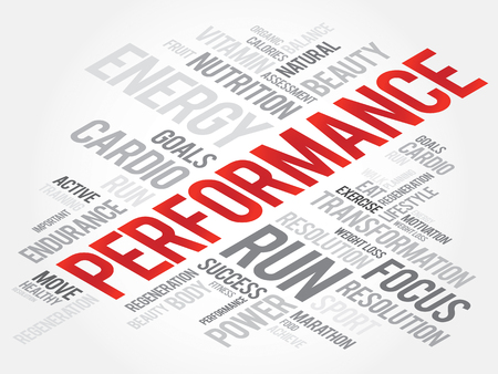 health concept: PERFORMANCE word cloud, fitness, sport, health concept