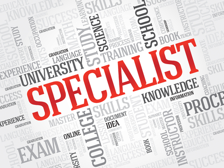 specialist: SPECIALIST word cloud, education business concept