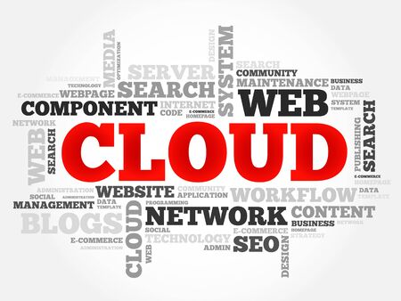 cloud computing technologies: CLOUD. word cloud concept