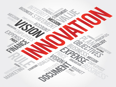 innovator: INNOVATION word cloud, business concept