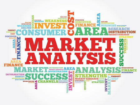 market analysis: Market Analysis concept vector word cloud