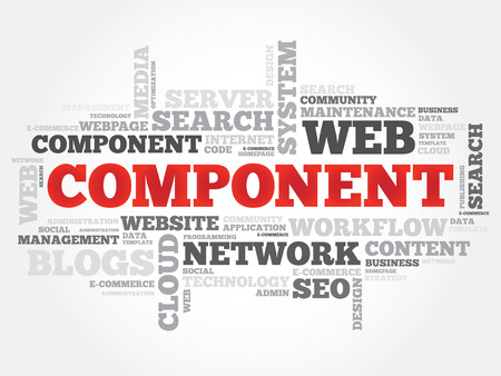 dynamic html: Component word cloud, security concept Illustration