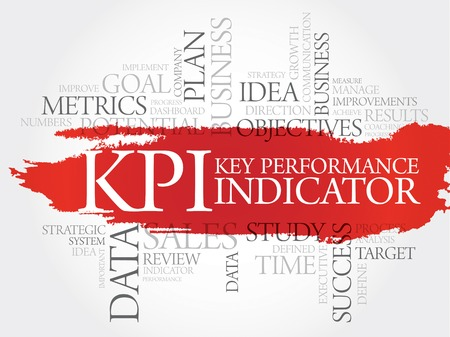 パフォーマンス: KPI - Key Performance Indicator word cloud, business concept  イラスト・ベクター素材