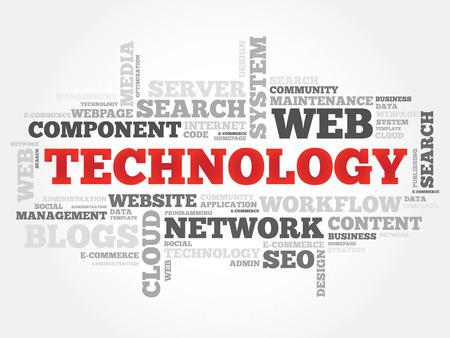 sep: TECHNOLOGY word cloud, business concept Illustration