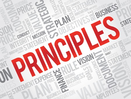 perceived: Principles word cloud, business concept