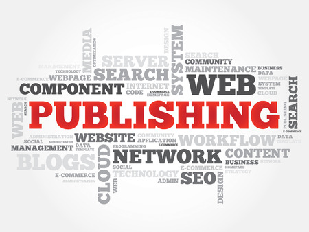 publishing: Publishing word cloud, business concept