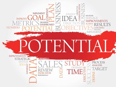 potential: Potential word cloud, business concept Illustration