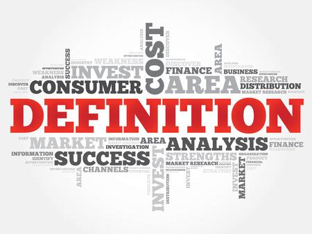 definicion: DEFINICI�N nube de la palabra, concepto de negocio Vectores