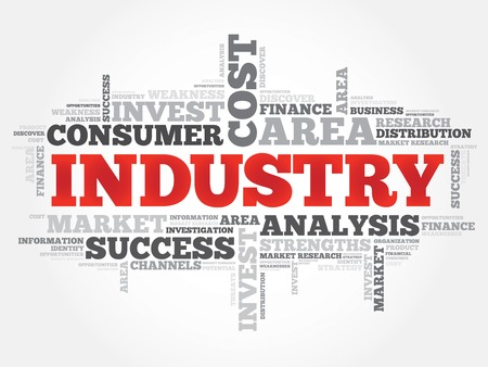 Industry word cloud, business concept