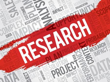 onderzoek: RESEARCH word cloud, business concept Stock Illustratie