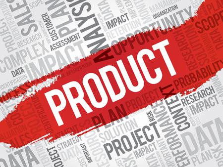 製品の単語の雲、ビジネス コンセプト