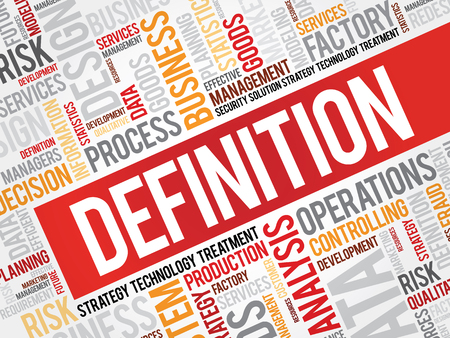 definition: DEFINITION word cloud, business concept