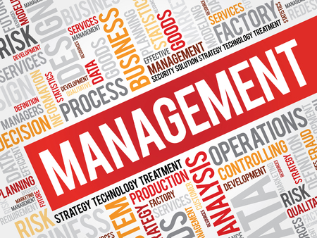 manager: Management word cloud, business concept Illustration