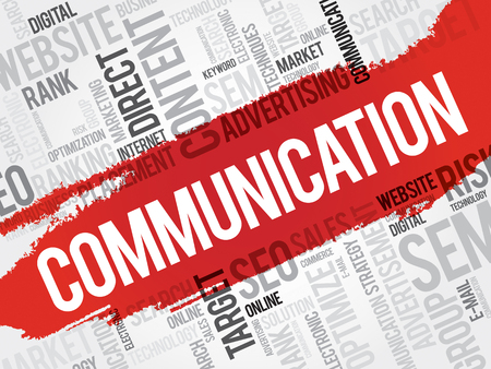 nonverbal: COMMUNICATION word cloud, business concept