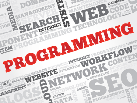 modernization: Programming word cloud, business concept