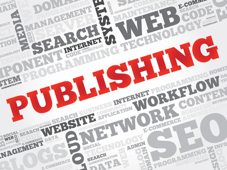 meta data: Publishing word cloud, business concept