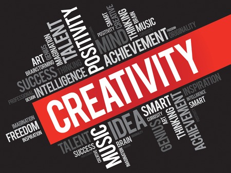 creativity concept: Creativity word cloud concept