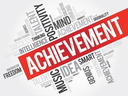 empowerment: Achievement word cloud, business concept Illustration