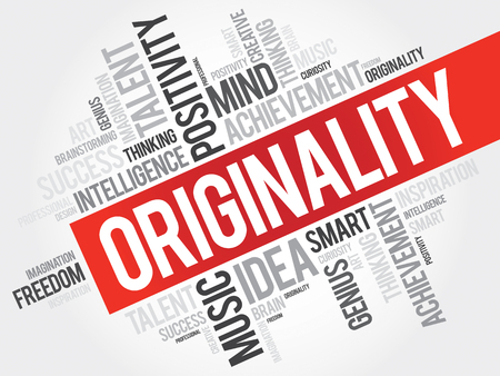 originalidad: Originality word cloud, business concept