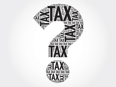 irs: Tax Question mark, word cloud business concept Illustration