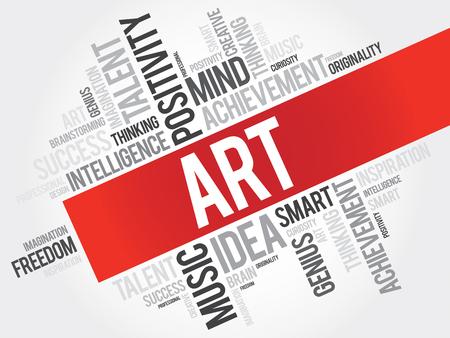 disciplines: Art word cloud, business concept Illustration