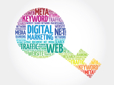 marketers: Digital Marketing Key word cloud, business concept