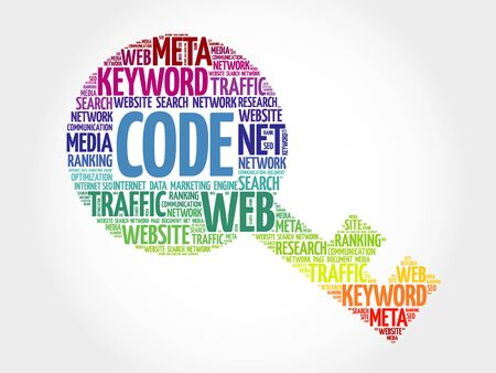 Code Key word cloud, business concept