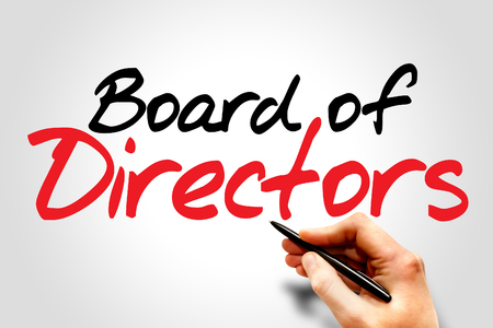 writing board: Hand writing Board of Directors, business concept Stock Photo