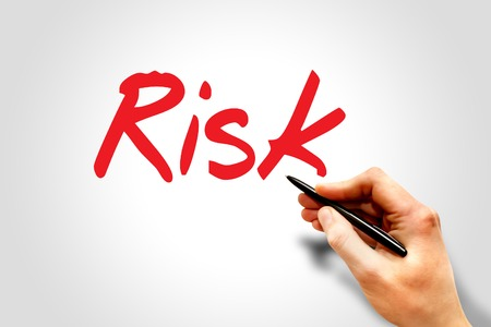handwrite: Hand writing Risk, business concept
