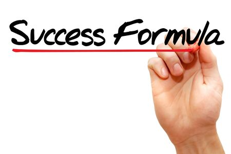Hand writing Success Formula with marker, business concept