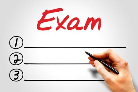 extramural: EXAM blank list concept