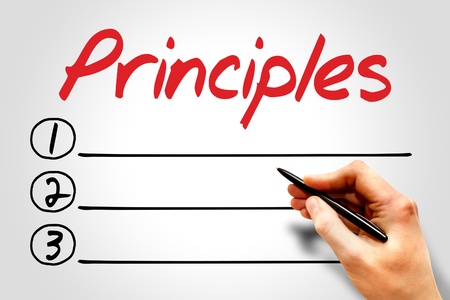perceived: Principles blank list, business concept Stock Photo