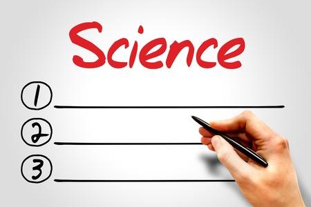 interdisciplinary: SCIENCE blank list concept